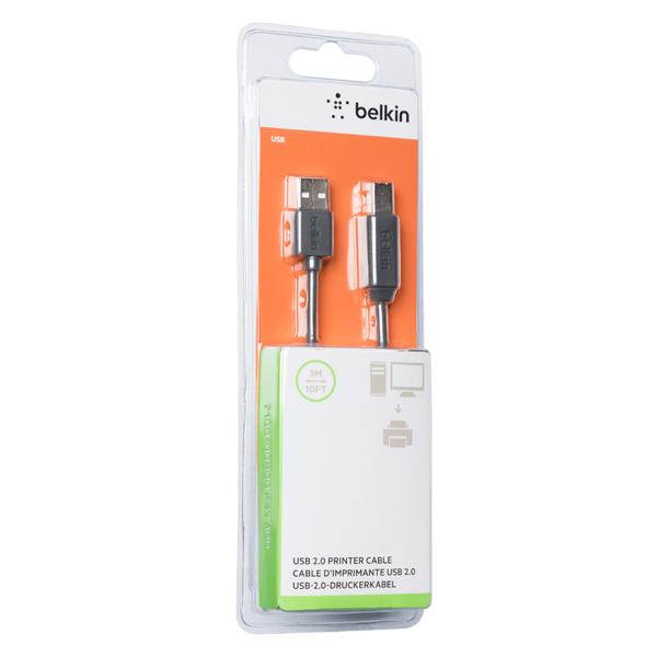Кабель для компьютера Belkin USB-A(М)/USB-B(М), 3m (F3U154BT3M)