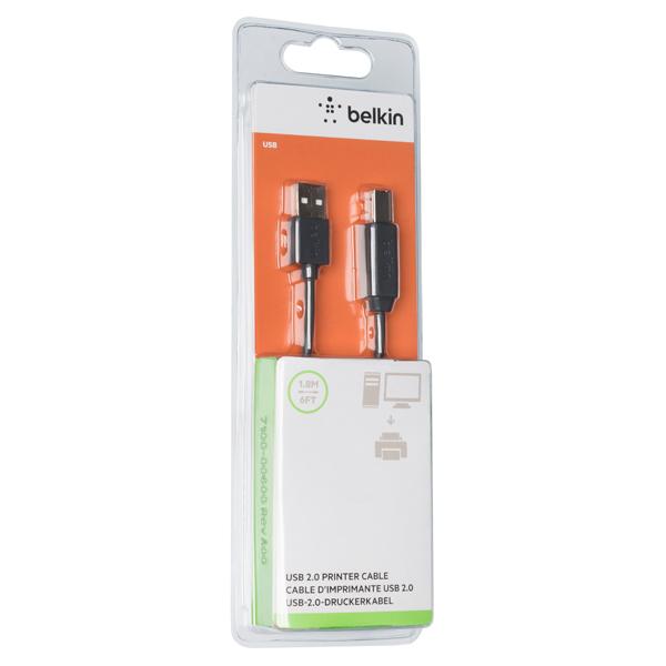 Кабель для компьютера Belkin USB-A(М)/USB-B(М), 1,8m (F3U154BT1.8M)