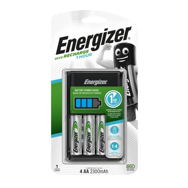 Зарядное устройство + аккумуляторы Energizer 1 HOUR Charger + 4шт. AA 2300mAh (E300697700)