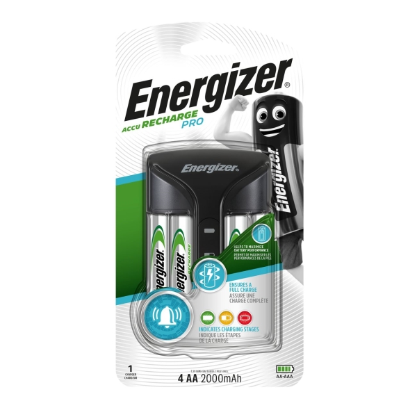 Зарядное устройство + аккумуляторы Energizer PRO Charger + 4шт. AA 2000mAh (E300696601)