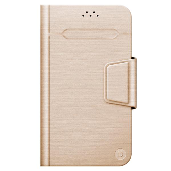 Универсальный чехол для смартфона Deppa Wallet Fold L 5.5-5.7 Gold