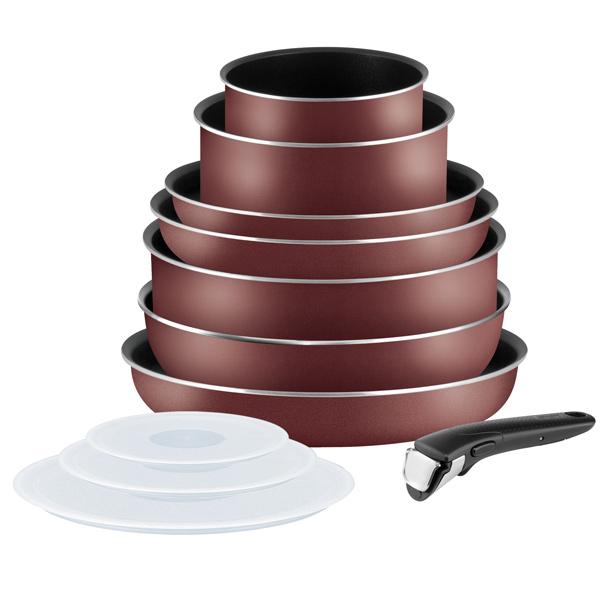 Набор посуды (антипригарное покрытие) Tefal Ingenio Red 11пр. (041758560) цены