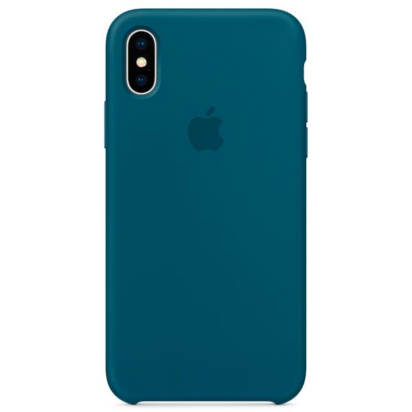 Чехол для iPhone Apple iPhone X Silicone Case Cosmos Blue (MR6G2ZM/A)
