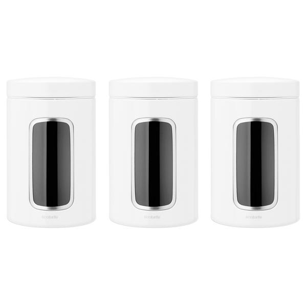 Контейнер для продуктов Brabantia 151224 Набор контейнеров с окном 3пр. 1,4л