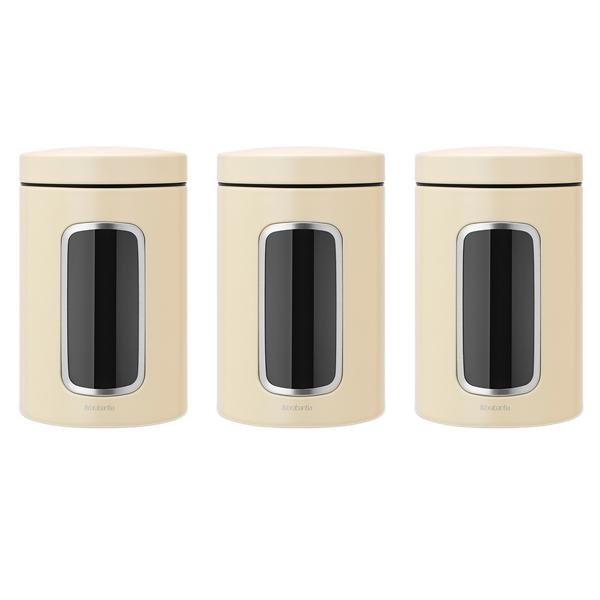 Контейнер для продуктов Brabantia 380341 Набор контейнеров 3пр. 1,4л