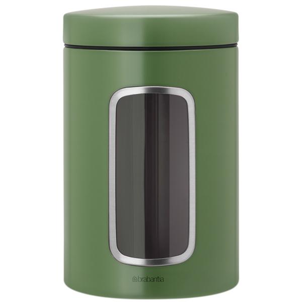 Контейнер для продуктов Brabantia 486005 Контейнер для сыпучих продуктов с окном 1,4 brabantia мусорный бак с педалью newicon 30 л 67 5х30х34 см серый металлик