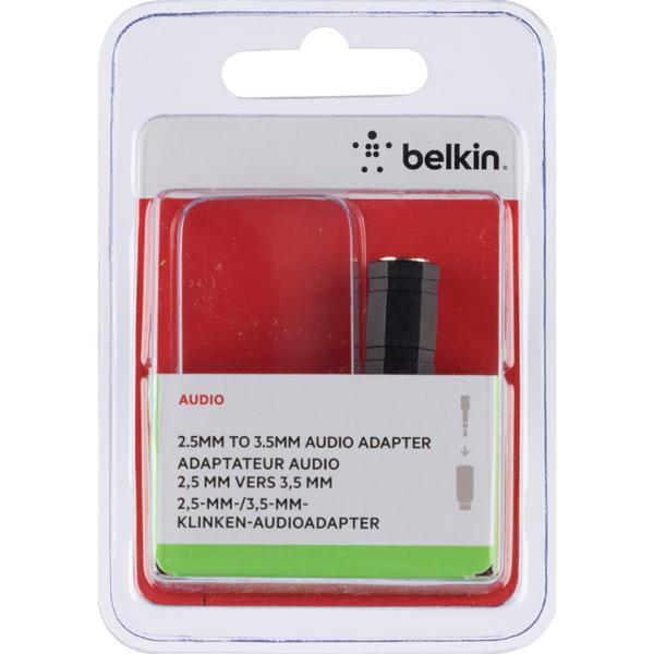 Переходник для кабеля Belkin Jack 3.5 мама/Jack 2.5 папа (F3Y124bfP) фото