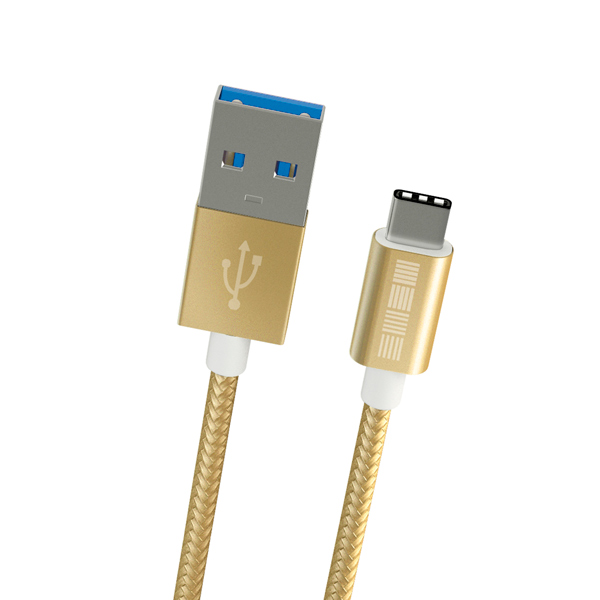 Кабель USB Type-C InterStep TypeC-USB A  USB3.0 нейлон Gold 2m кабель usb type c interstep usb 3 0 нейлон 2м is dc typcusnsg 200b210