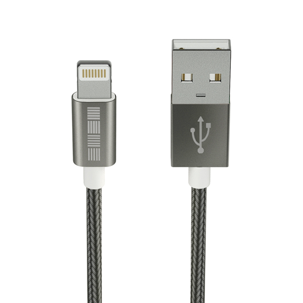 Кабель для iPod, iPhone, iPad InterStep USB-Lightning(8pin) Mfi TPE Space Gray 2m