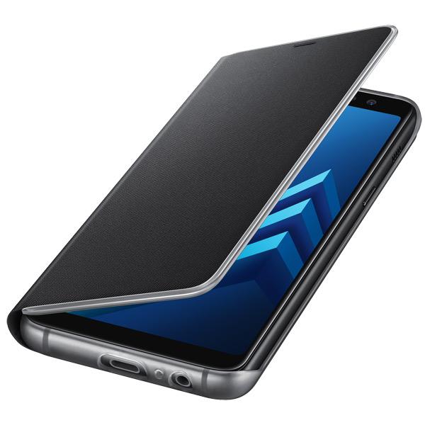Чехол для сотового телефона Samsung Galaxy A8 (2018) Neon Flip Cover Black аксессуар защитное стекло samsung galaxy a3 2017 solomon full cover black