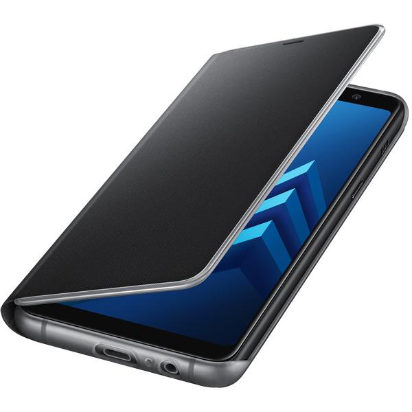 Чехол Samsung Galaxy A8+ (2018) Neon Flip Cover Black