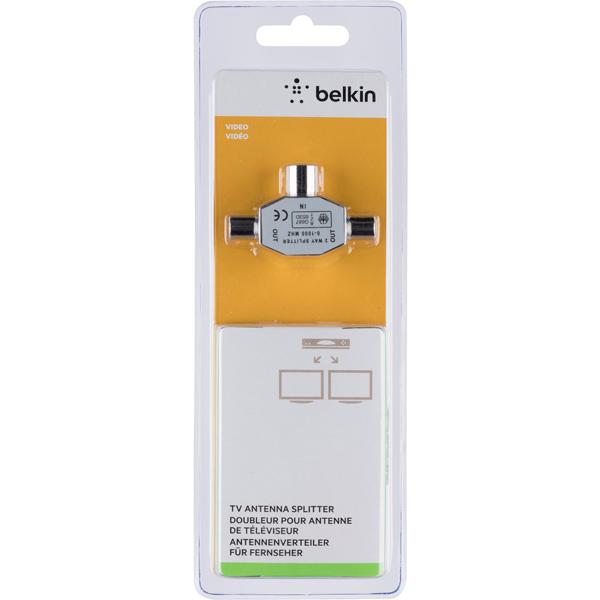TV-разветвитель Belkin антенный 1 вход/2 выхода (TV коакс.) (F3Y067bt)