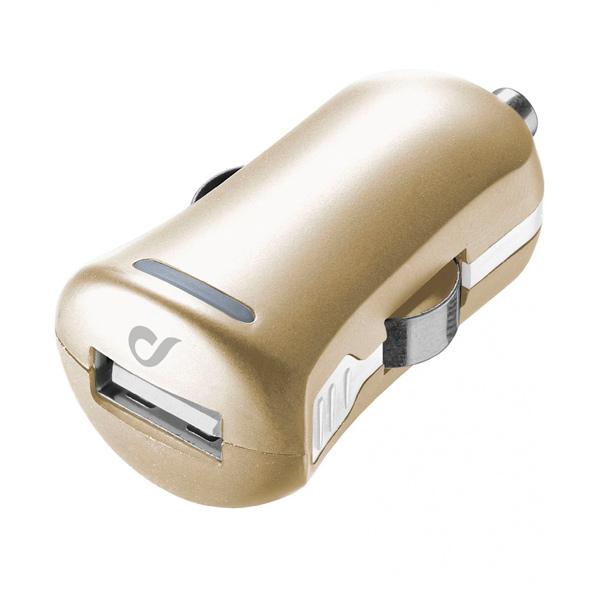 Автомобильное зарядное устройство Cellular Line LACBRUSB2AH золотого цвета
