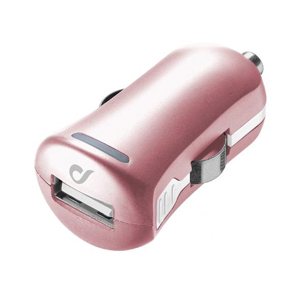 Автомобильное зарядное устройство Cellular Line LACBRUSB2AP розового цвета