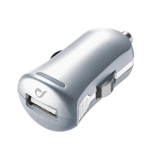 Автомобильное зарядное устройство Cellular Line LACBRUSB2AS серебристого цвета
