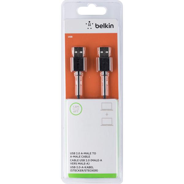 Кабель для компьютера Belkin USB-A папа/USB-A папа 1.8м (F3U131BT1.8M)
