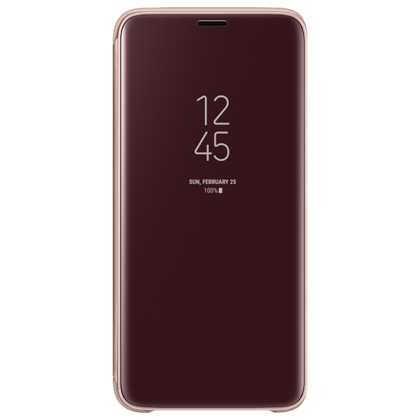 Чехол Samsung Clear View .Cover для  Galaxy S9, Gold