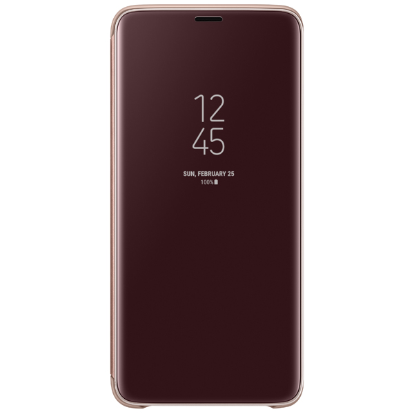Чехол Samsung Clear View .Cover для  Galaxy S9+, Gold