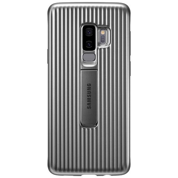Чехол для сотового телефона Samsung Protective S.Cover для Samsung Galaxy S9+, Silver чехол клип кейс samsung protective standing cover great для samsung galaxy note 8 темно синий [ef rn950cnegru]