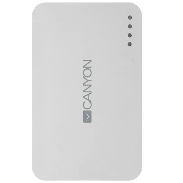 Внешний аккумулятор Canyon CNE-CPB78W 7800mAh White внешний аккумулятор canyon cne cpb78w 7800mah white