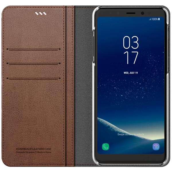 Чехол для сотового телефона Araree Mustang Diary для Samsung A8+ (2018) Saddle Brown diary