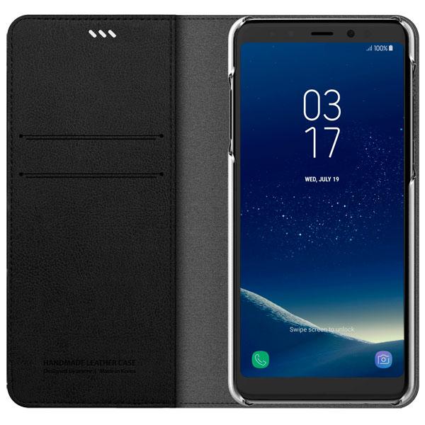 Araree, Чехол для сотового телефона, Mustang Diary для Samsung A8 (2018) Black