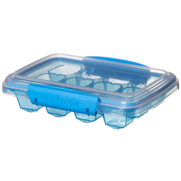 "Форма для льда Sistema KLIP IT Ice Tray Accents Medium Blue (61445) цвет синий/""прозрач."""