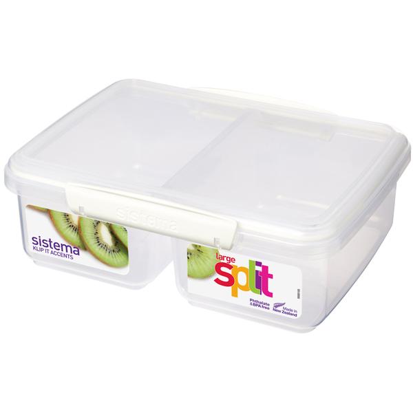 Контейнер для продуктов Sistema KLIP IT Split Accents 2л White (61720) насос unipump акваробот jet 100 l г а 2л 45190