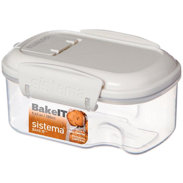 Контейнер для продуктов Sistema BAKE-IT Mini 285мл White (1201)