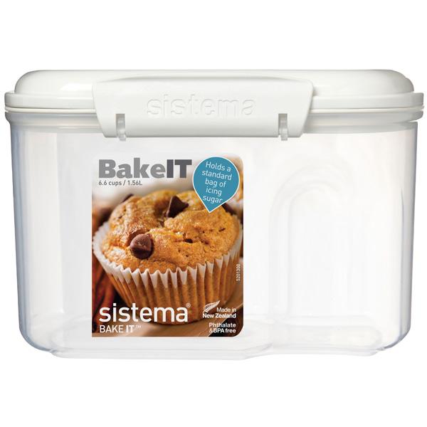 Контейнер для продуктов Sistema BAKE-IT Bakery 1,56л White (1230) shipule commercial conveyor toaster bakery oven electric conveyor toaster bakery oven for free shipping