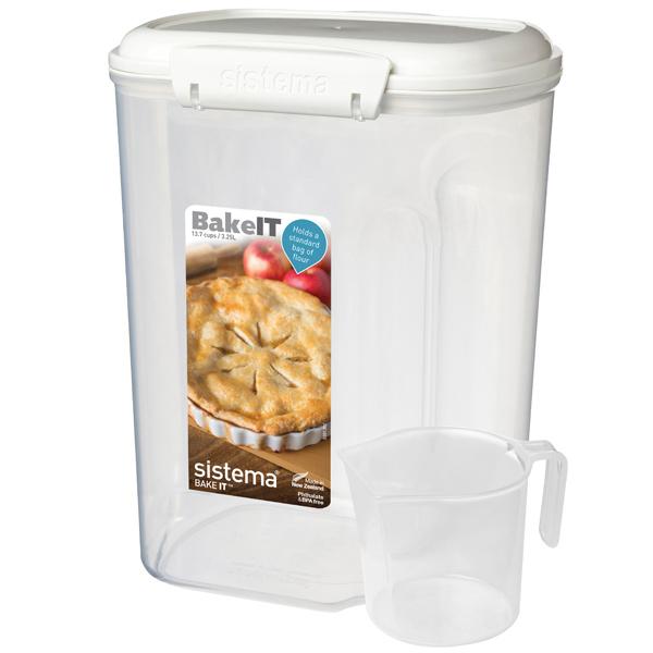 Контейнер для продуктов Sistema BAKE-IT With Cup 3,25л White (1250)