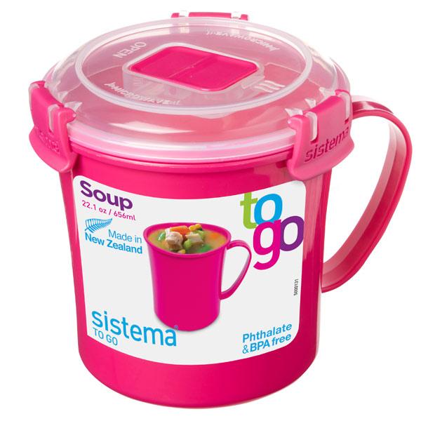 Контейнер для продуктов Sistema To-Go Soup Mug 656мл Red (21107)