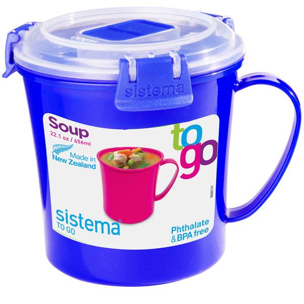 Контейнер для продуктов Sistema To-Go Soup Mug 656мл Blue (21107)
