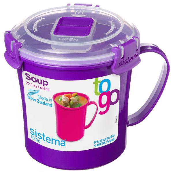 Контейнер для продуктов Sistema To-Go Soup Mug 656мл Violet (21107)