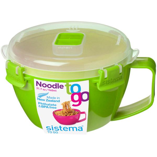 Контейнер для продуктов Sistema To-Go Noodle Bowl 940мл Green (21109)