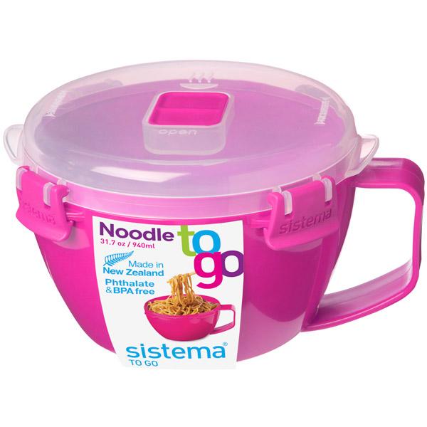 Контейнер для продуктов Sistema To-Go Noodle Bowl 940мл Red (21109)
