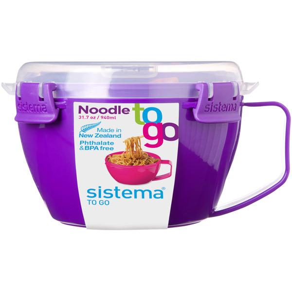 Контейнер для продуктов Sistema To-Go Noodle Bowl 940мл Violet (21109)
