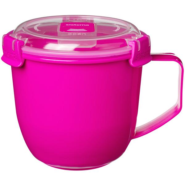 Контейнер для продуктов Sistema To-Go Soup Mug 900мл Pink (21141) фото