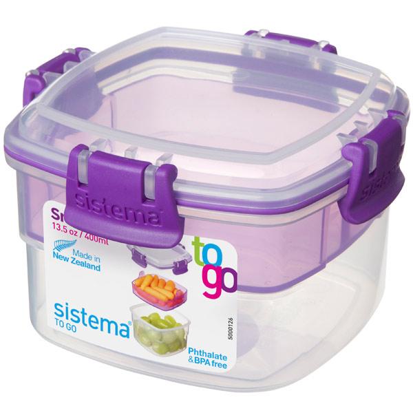Контейнер для продуктов Sistema To-Go Snacks 400мл Violet (21320) фото