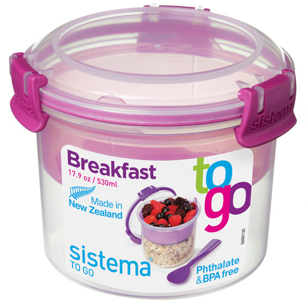 Контейнер для продуктов Sistema To-Go Breakfast 530мл Red (21355)
