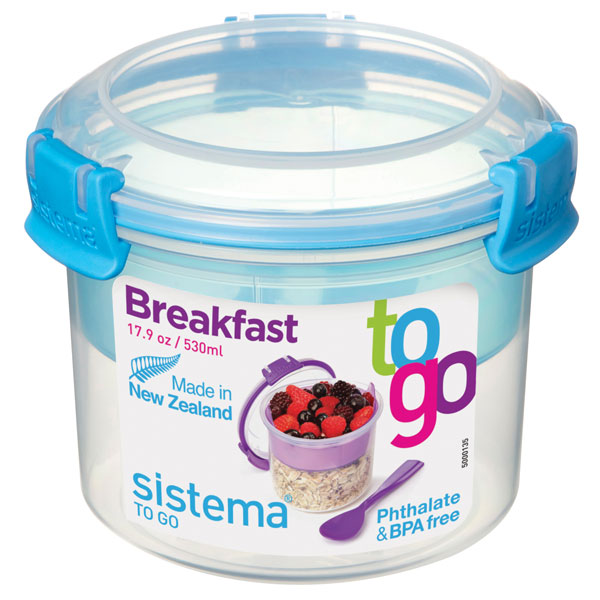 Контейнер для продуктов Sistema To-Go Breakfast 530мл Blue (21355)