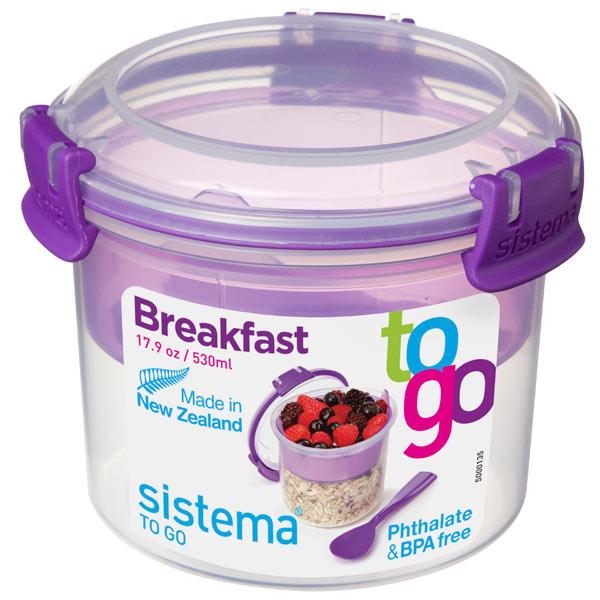 Контейнер для продуктов Sistema To-Go Breakfast 530мл Violet (21355)