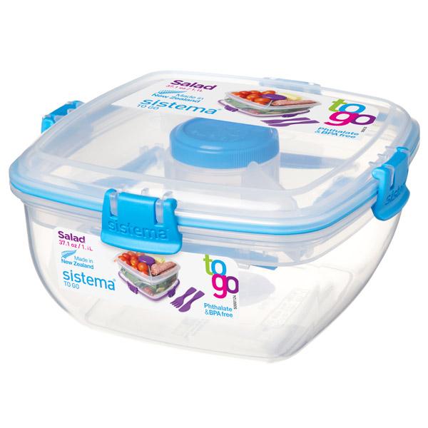 Контейнер для продуктов Sistema To-Go Salad 1.1л Blue (21356) go to bed blue