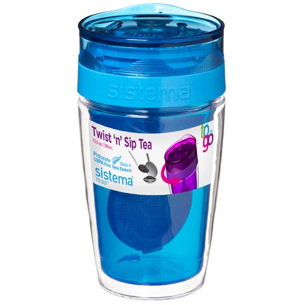 Контейнер для продуктов Sistema To-Go Twist 'n' Sip Tea 370мл Blue (21476) go to bed blue