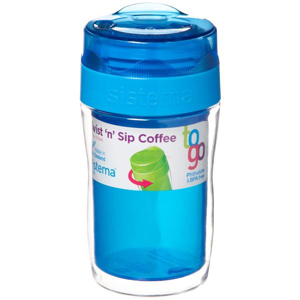 Контейнер для продуктов Sistema To-Go Twist 'n' Sip Coffee 315мл Blue (21477) go to bed blue