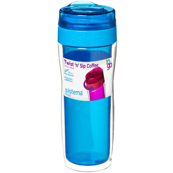 Контейнер для продуктов Sistema To-Go Twist 'n' Sip Coffee 490мл Blue (21478) go to bed blue