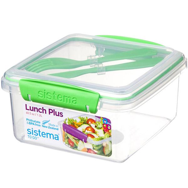 Контейнер для продуктов Sistema To-Go Lunch Plus 1.2л Green (21652)
