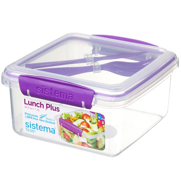 Контейнер для продуктов Sistema To-Go Lunch Plus 1.2л Violet (21652)