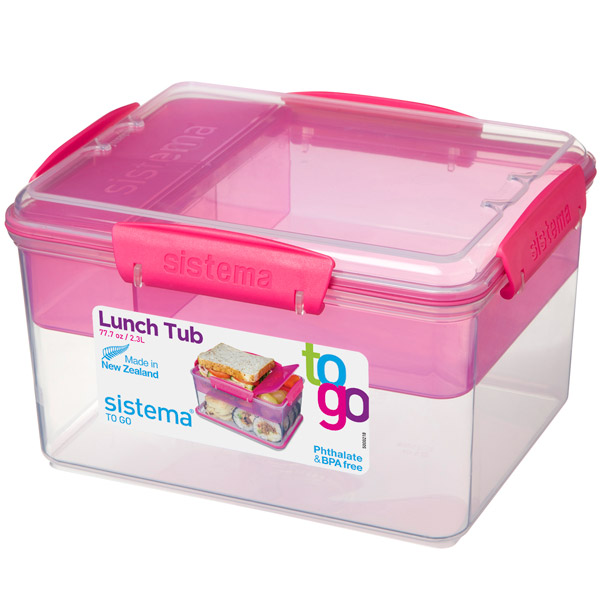 Контейнер для продуктов Sistema To-Go Lunch Tub 2.3л Red (21665) контейнер sistema to go 21665 2 3 л