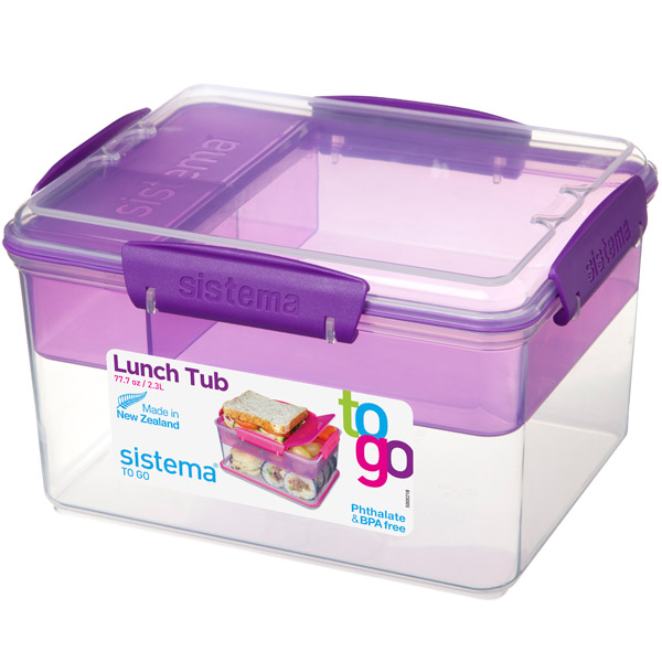 Контейнер для продуктов Sistema To-Go Lunch Tub 2.3л Violet (21665) контейнер sistema to go 21665 2 3 л